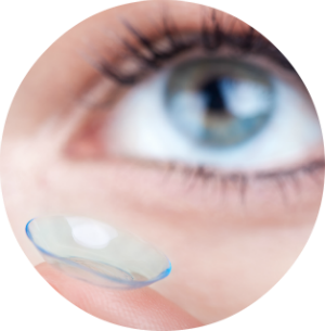 Putting contact lens in eye